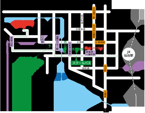 青葉山校舎地図