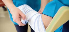 捻挫の応急処置法