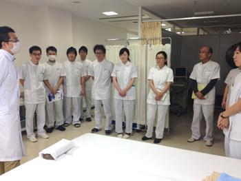 今回初めて治療所見学も含めた授業を行いました
