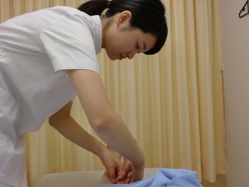 施術は鍼灸指圧科3年