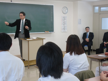 日本柔道整復師会 総務部長 当校講師 豊嶋先生