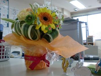 お花、飾らせてもらいました♡