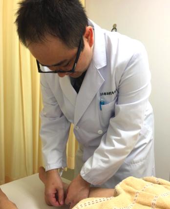 足のつけ根への刺鍼