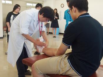 柔道整復科の実技体験
